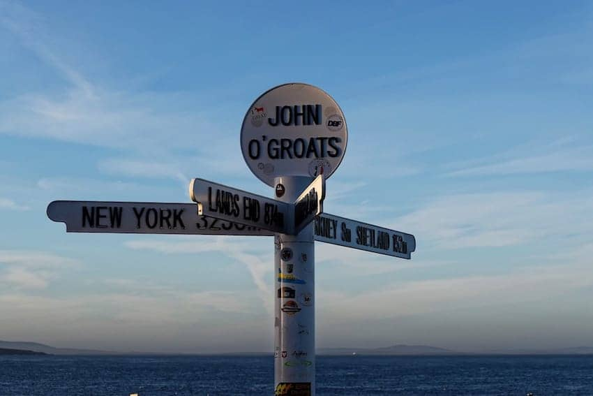 Find British - John o'Groats to Land's End